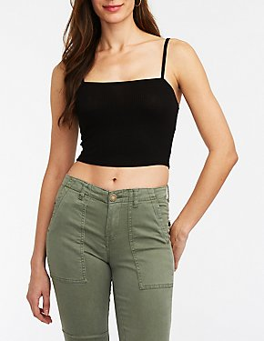 Ribbed Knit Crop Cami