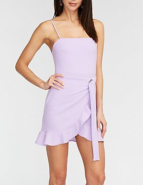 Ruffle Edge O Ring Wrap Dress