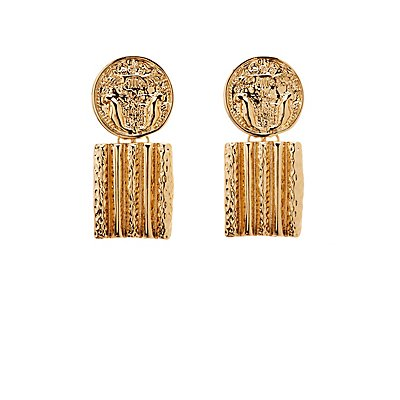 Coin & Bar Drop Earrings