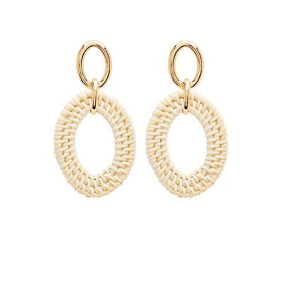 Oval Woven Earrings