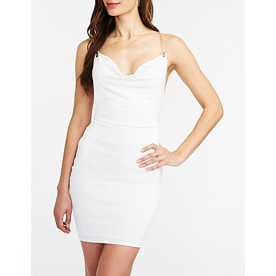 Chainlink Cowl Bodycon Dress