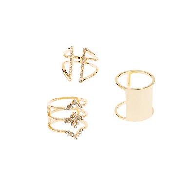 Geometric Rings - 3 Pack