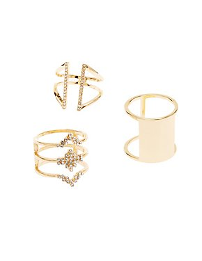 Geometric Rings - 3 Pack