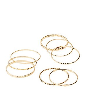 Stackable Bangle Bracelets - 8 Pack