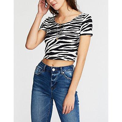 Zebra Print Crop Top