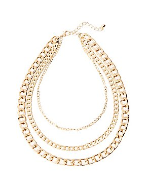 Curb Chain Trio Necklace