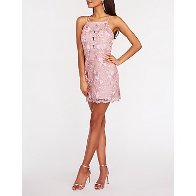 Bib Neck Lace Dress