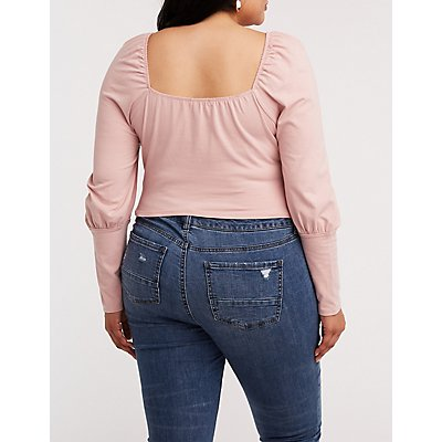 Plus Size Sweetheart Crop Top