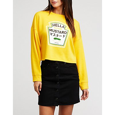 Mustard Graphic Sweatshirt