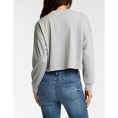 Trouble Maker Crop Sweatshirt