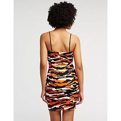 Tiger Print Bodycon Dress