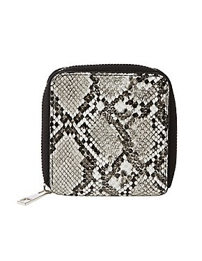 Faux Snakeskin Bi Fold Wallet