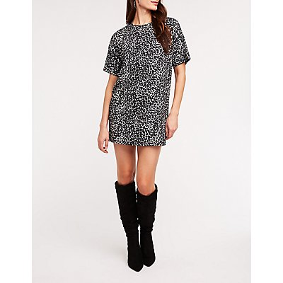 Leopard T Shirt Dress