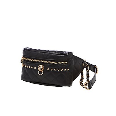 Studded Quilted Fanny Pack