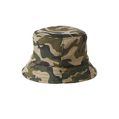 Camo Print Bucket Hat