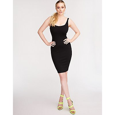 Scoop Neck Bodycon Dress