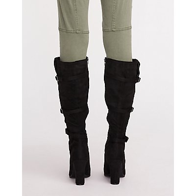Buckle Pointed Toe Boots