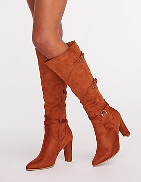 Buckle At The Knee Boots