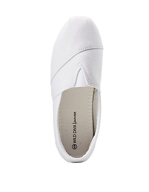 Canvas Slip On Sneakers