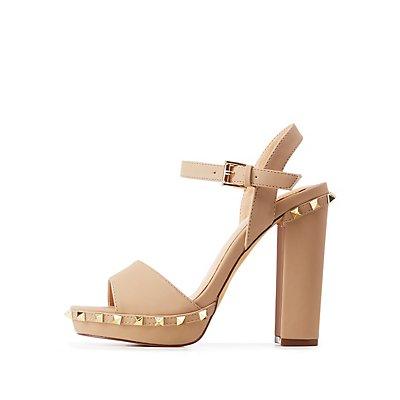 Studded Platform Dress Sandals