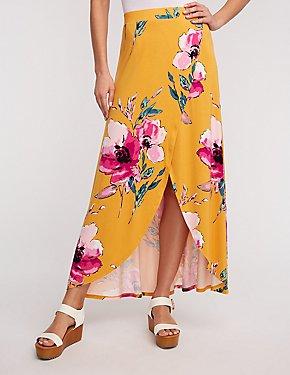 Floral Maxi Wrap Skirt
