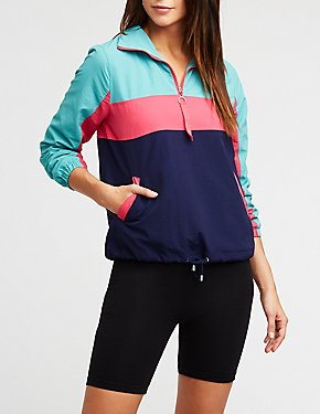 Colorblock Half Zip Windbreaker