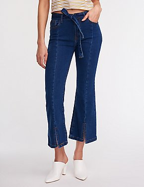 Tie Front Denim Jeans