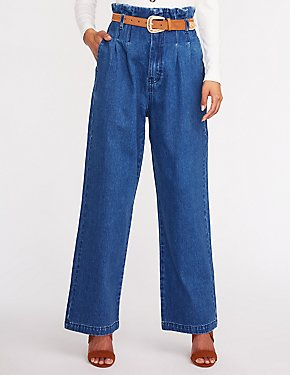 Refuge Hi Rise Wide Leg Denim Jeans