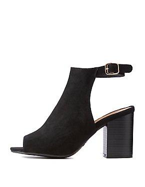 Peep Toe Slingback Dress Sandals