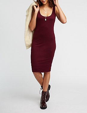 Scoop Neck Midi Dress