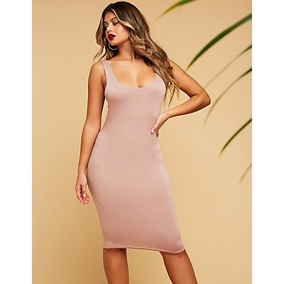 Scoop Neck Midi Dress