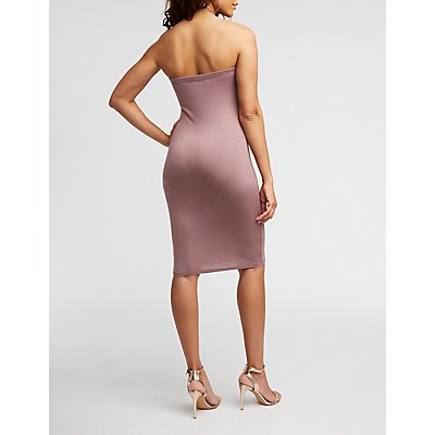Strapless Mini Bodycon Dress