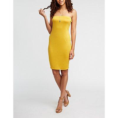 Strapless Mini Bodycon Dress