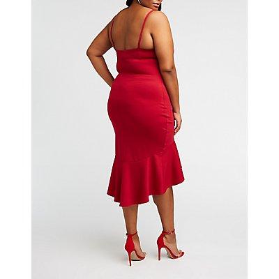 Plus Size Hi Low Midi Dress