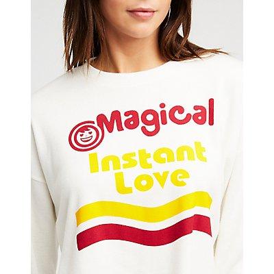Instant Love Graphic Crop Top
