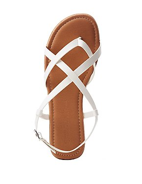 Faux Leather Sling Back Flats