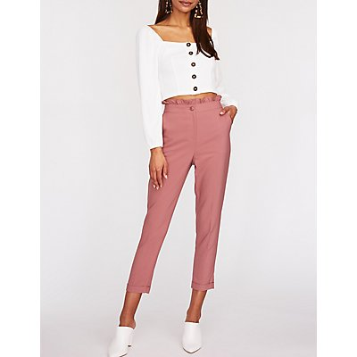 Square Neck Button Up Top