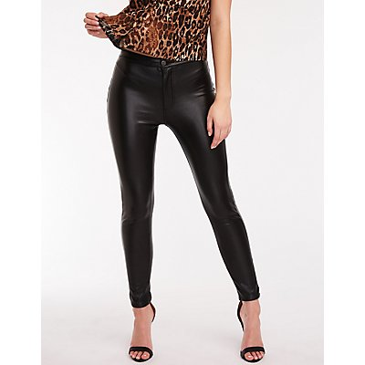 Faux Leather Skinny Jeans