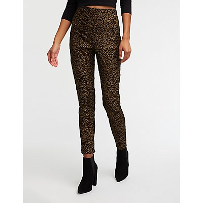 Metallic Leopard Trousers
