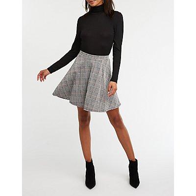 Glen Plaid A Line Skirt