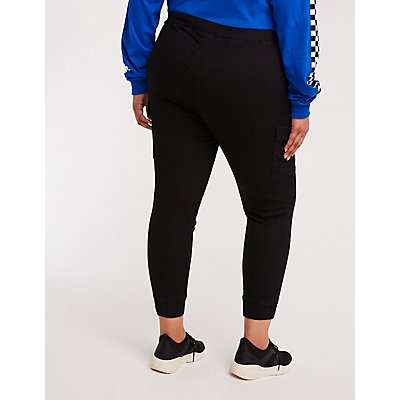 Plus Size Cargo Jogger Pants