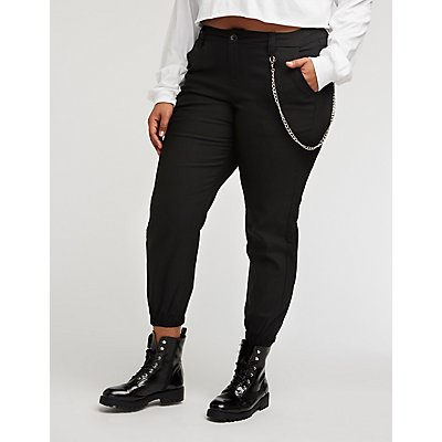 Plus Size Chain Link Joggers