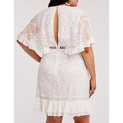 Plus Size Crochet Embroidered Dress