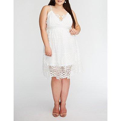 Plus Size Crochet Shift Dress