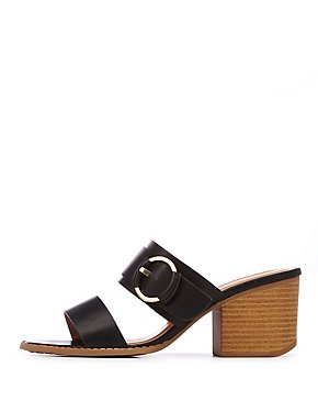 Two Strap O Ring Slide Sandals