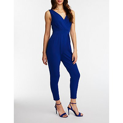 Wrap Front Jumpsuit by Charlotte Russe