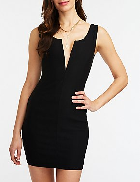 V Wired Bodycon Dress