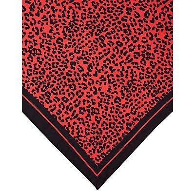 Satin Leopard Neckerchief