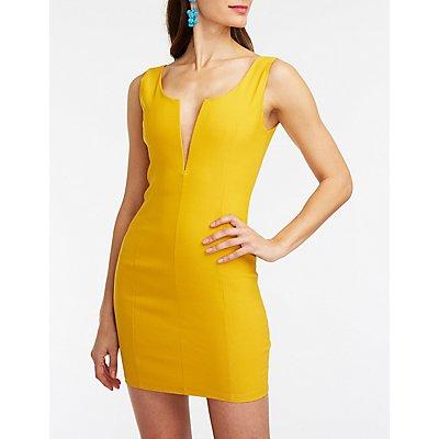 V Wired Bodycon Dress