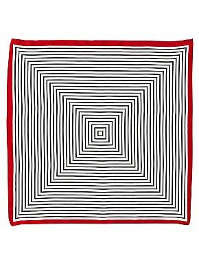 Striped Satin Neckerchief